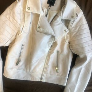 Joe jeans baby powder PINK leather jacket with tag